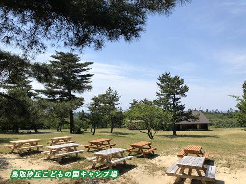 鳥取砂丘こどもの国キャンプ場全景