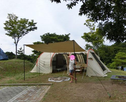 キャンプで夏休みの宿題を1つ片付ける