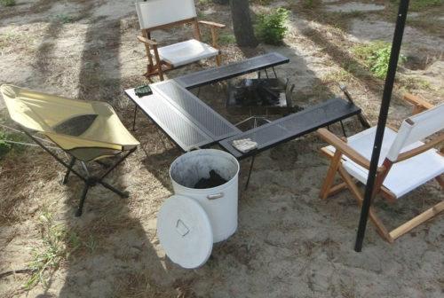 【キャンプ用品】炭の保管はニトリのブリキバケツでオシャレに