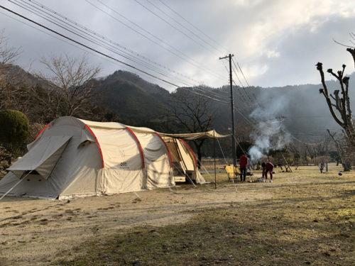 カマボコテント2で冬キャンプ