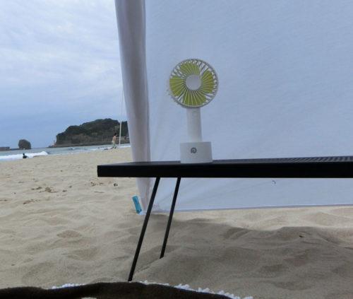 夏キャンプに1台は持っておきたい携帯USB扇風機