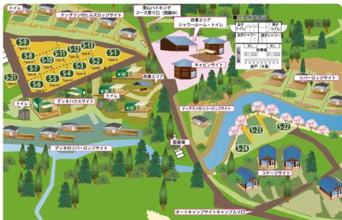 森のひとときの場内マップ