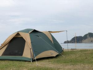 気比の浜キャンプ場でキャンプ