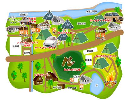 新田ふるさと村の場内マップ