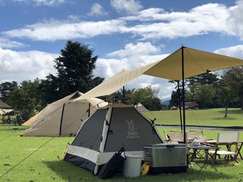 キャンプ場の天気は良かった