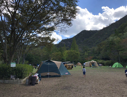 古法華自然公園キャンプ場の東サイト